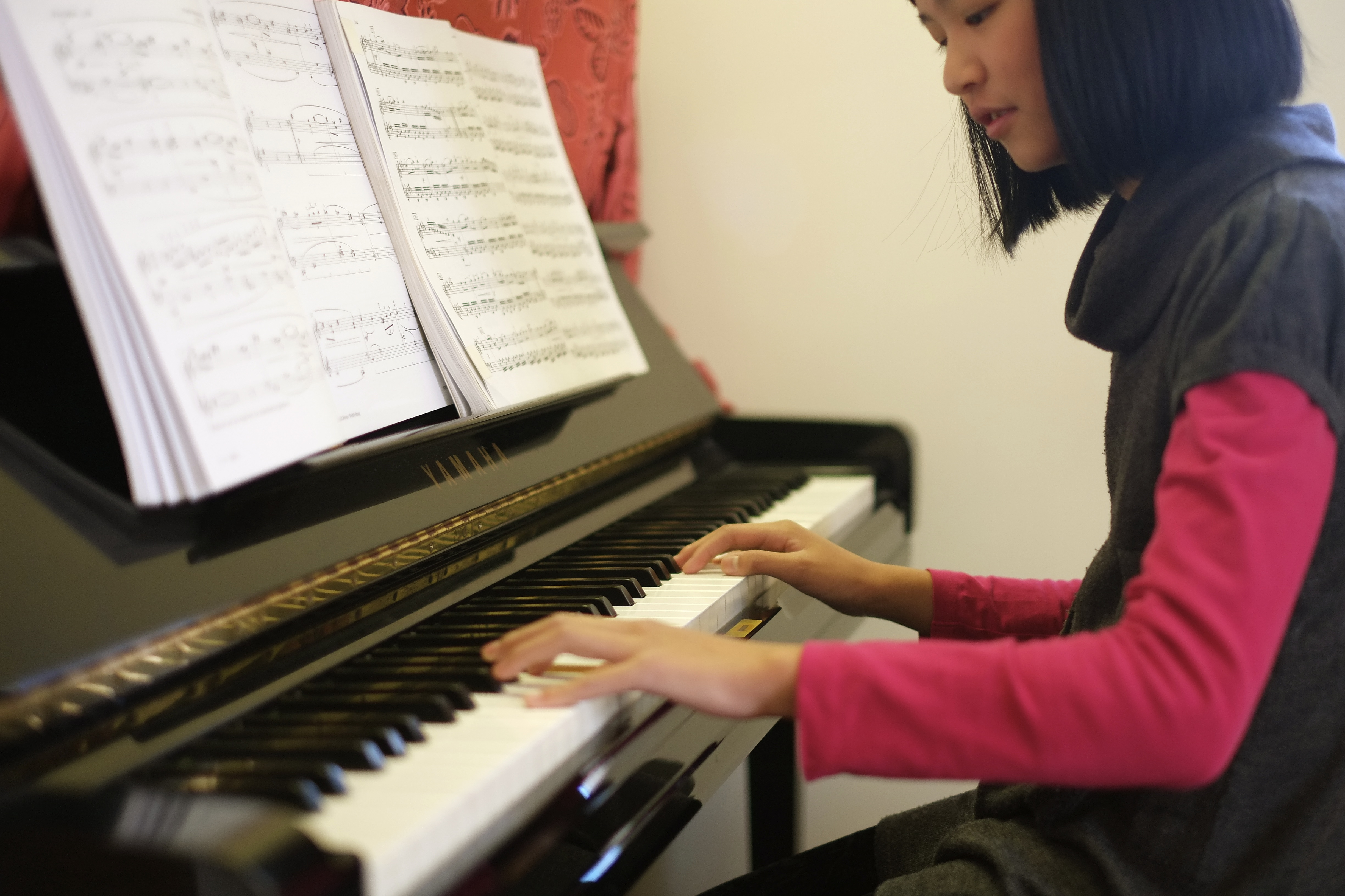 Michelle Pham playing the Piano